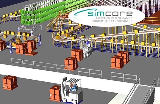 Simulación de flujos con Simcore