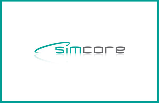 Simcore company logo page acerca de