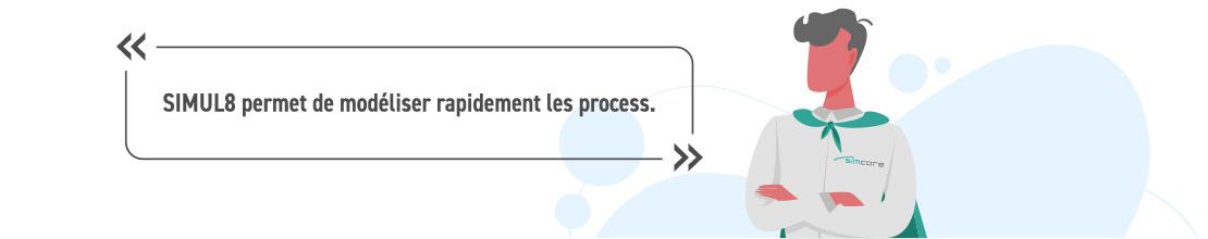 SIMUL8 permet de modéliser rapidement les process.