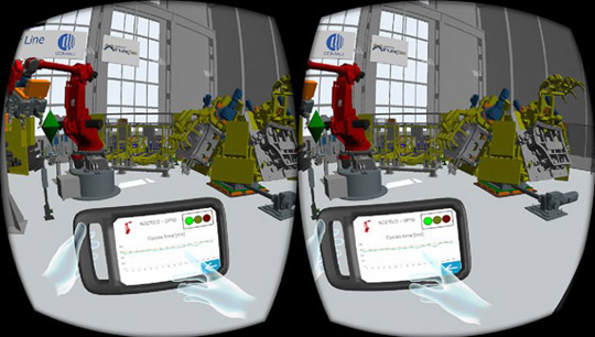 If you own an Oculus Rift or HC Vive VR headset, then you can simply by checking a box in FlexSim immerse yourself in your simulation model.